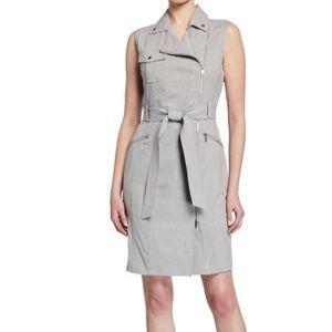 NWOT CK Asymmetrical Zipper Dress